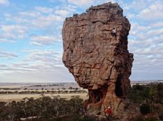 Peter Tickler in Swinging (17), Mt Arapiles, Brian Tan belaying. GESA GRASER Victoria Australia, South Australia, Western Australia, Ice Climbing, Mountaineering, Bouldering, Cliff, Wilderness, Mount Rushmore
