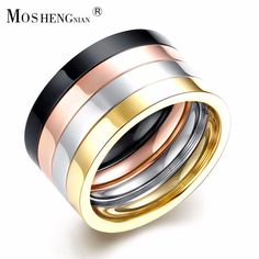 Stainless Steel Ring, Man's Double Freedom Ring, Romantic Friends Party Rose Gold Fashionable Attractive Men's Jewelry #Affiliate
