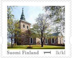 Uskelan kirkosta postimerkki | SSS.fi Lapland Finland, Postage Stamps, Scandinavian, Cathedral, Mansions, History, House Styles, Paper, Seals