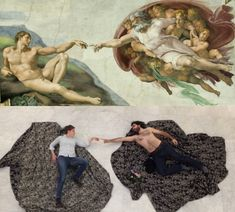 The Creation of Adam, Michelangelo Buonarotti (1475-1564) vanGo'd by Kippelboy and Nicole (Wikipedia and Europeana) | VanGoYourself