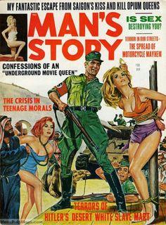 Provocative Pulp Fiction at it's finest! Pulp Fiction Art, Pulp Art, Vintage Comics, Vintage Posters, Pulp Magazine, Magazine Covers, Magazine Art, Damsels In Peril, Arte Sci Fi