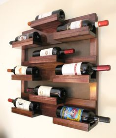 *****This is a MADE TO ORDER listing. You will receive a wine rack the same as the one pictured above but this one already has a home.***** For