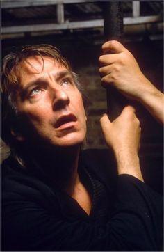 Alan Rickman playing Hamlet at Riverside Studios in 1992.