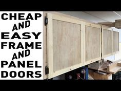 Cheap And Easy Frame And Panel Doors - YouTube