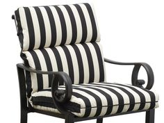 Striped Outdoor Cushions. Black And White ChairWhite ...