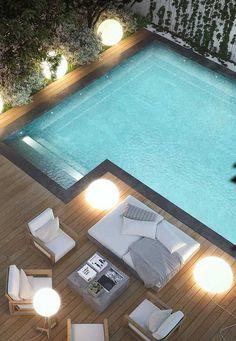 Jacuzzi, Pallet Garden Furniture, Garden Design, House Design, Modern Pools, Small Pools, Garden Pool, Pool Houses, Luxury Life