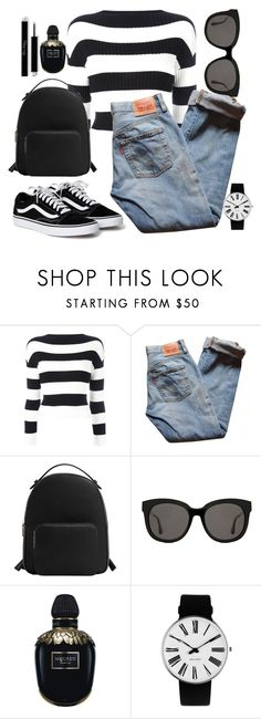 """""""Black 😎"""" by anna-mors ❤ liked on Polyvore featuring Boutique Moschino, Levi's, MANGO, Gentle Monster, Alexander McQueen and Rosendahl"""