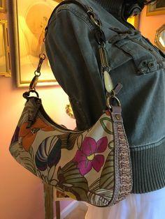 Fossil Floral Weave, Leather, Metal, Stones, Hobo/Shoulder Purse Bag Spring!  #Fossil #Hobo