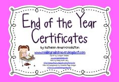 -Includes 27 colorful end of the year certificates-Click on the
