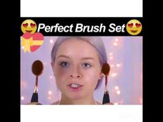 Perfect Oval Makeup Brush Set   Wonderful gift idea for Makeup Lovers  Perfect For Traveling  Foundation Powder Cosmetic Brush Kits  Best Makeup Brush Set On The Market