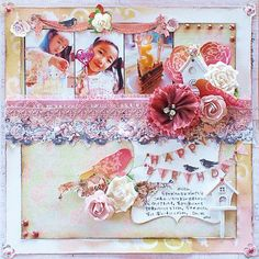 Scrapbook layout using Prima products