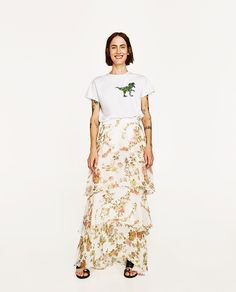 SKIRT WITH FRILLS-NEW IN-WOMAN   ZARA United States