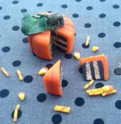 Pumpkin miniature tea set by Steph the fairy maker found on Etsy