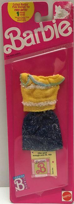 VINTAGE BARBIE 1989 FASHION FINDS DRESS MOC CLOTHES #5300