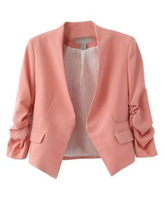 Looking for the perfect Amoin Style Women's Blazer Jacket Suit Work Casual? Please click and view this most popular Amoin Style Women's Blazer Jacket Suit Work Casual. Blazer E Short, Blazer And Shorts, Casual Blazer, Red Blazer, Short Suit, Cropped Blazer, Blazer Outfits, Women's Casual, Casual Wear
