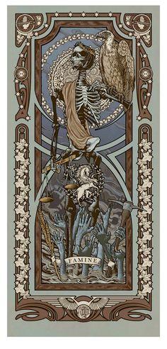 """Reapers of the Apocalypse"" Art Print Set by Ryan Begley"