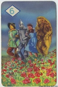 1 of 44 cards from 1939 The Wizard of Oz Card Game on Immortal Ephemera  http://immortalephemera.zippykid.netdna-cdn.com/wp-content/gallery/1940-wizard-of-oz-card-game/06d.jpg
