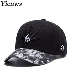 Yienws New Fashion Embroidery Male Baseball Cap Brand Curved Hip Hop Bone  Gorras Femme Weed Hat 0d127a2ec1ac