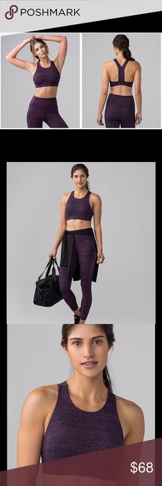 NWT Lululemon Fast and Free Bra Feel supported-and secure-whether you're doing burpees, push-ups, or running in this bra thanks to its high neckline. We made it using our super soft, sweat-wicking, and 4-way stretch Nulux™ fabric so the high coverage feels luxurious against your skin. The slim racerback gives your shoulders full range of movement. Slip in optional, removable cups for additional coverage-if you want it. Intended to provide medium support for sweat-enthusiasts with a B/C cup…