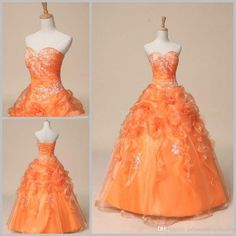 New Cheap Orange Quinceanera Dresses For 15 Party Sweet 16 Formal Long Prom Party Gowns Stock Size 2-16 QC198 Quinceanera Dresses Quinceanera Dresses 2016 Quinceanera Gowns Online with $74.18/Piece on Juliaweddingdresses's Store | DHgate.com