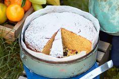 Whole orange and white chocolate cake