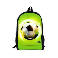 Practical Forudesigns School Bags For Teenagers Girls Schoolbag Large Capacity Foot Ball Printing School Children Backpack Set Pencil Bag Lights & Lighting