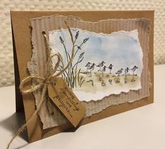 "By Laura Kant. Stamp set used is ""Wetlands"" by Stampin' Up."