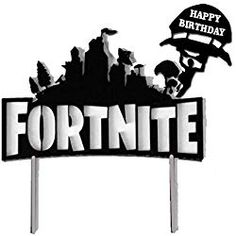 The Best Fortnite Party Ideas! The Ultimate Birthday Planning Guide! - My Kid Wants It! Fortnite Party Cake and Cupcake Toppers – Decorate Your Birthday Cake with One of These! 10 Birthday Cake, 9th Birthday Parties, Birthday Cake Toppers, Boy Birthday, Star Wars Cake Toppers, Diy Cake Topper, Cupcake Toppers, Spiderman Cake Topper, Video Game Party