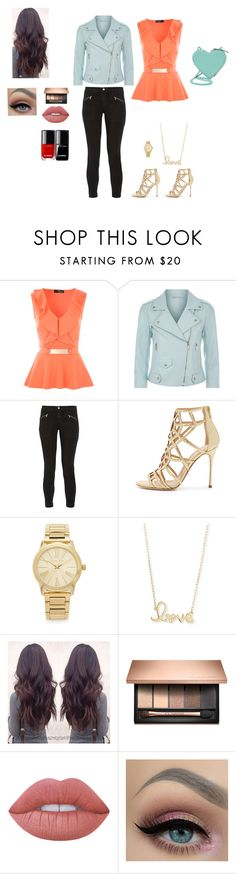 """""""Girls night out!"""" by arayes on Polyvore featuring Rebecca Minkoff, J Brand, Sergio Rossi, Michael Kors, Sydney Evan, Lime Crime and Christopher Kane"""