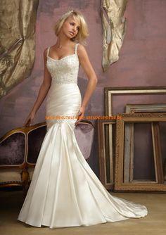 Elegante Brautkleider aus Satin im Meerjungfrauenstil mit kurz Schleppe 2013