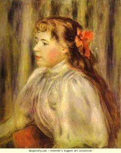 Pierre-Auguste Renoir. Portrait of a Girl. Olga's Gallery.