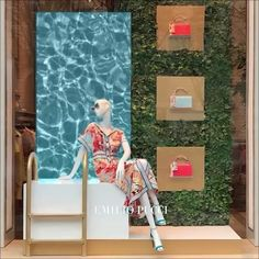 """EMILIO PUCCI, Avenue Montaigne, Paris, France, """"You're only one swim away from a good mood"""", creative by Visualplex, pinned by Ton van der Veer"""