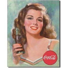 Coca Cola - propaganda e posteres vintage 1898 até década de 50