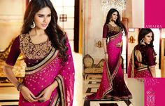 """Amaira Designer saree From Karma Trendz"" 365fstudio.com Grab the Complete Catalog of 12 Pieces * Rs ""Call me""/- Only !!! Call @ +919724300380 / Message us to inquire !!!  365fstudio.com (Manufacturers Of Exclusive Any Type Fancy Suit & Dress Materials) 621, New Textile Market, Ring Road,"