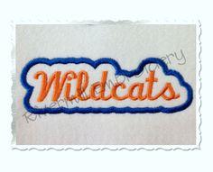 $2.95Applique Wildcats Team Name Machine Embroidery Design