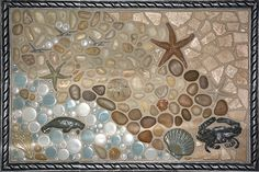Cool Beachy Tile Art: A Selection Of Installation Pictures For Your Inspiration | Photos & Ideas