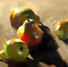 I love pears in any way, shape and form! They are fun to paint and draw!