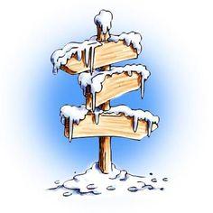Winter Sign Digi Stamp in Digital images