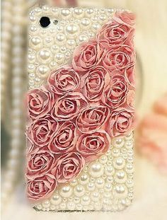 Lace+Rose+iphone+5+case+pearl+iphone+4+case+by+Luxuryphonecase88,+$17.99