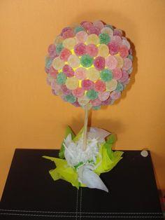 Centros de mesa para bautizo con dulces - Imagui
