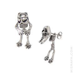 cat-skeleton-ear-jacket-steel-earrings