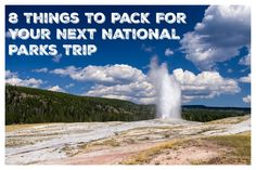 Alamo Chief Travel Mom Vera Sweeney shares eight essential items you should pack for your next National Park family adventure.