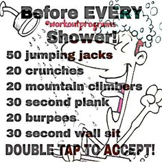 """""""This is a great routine! Do this before every shower! Double tap and tag a friend to try this out! @how2squat"""""""