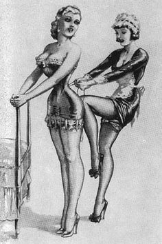 I promise not to put my knee in your back when you try on #corsets at Plums. Kittyx
