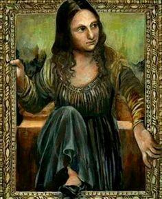 ...Mona fugitiva✖️Mona Lisa [Stef et Mag] (Gioconda / Mona Lisa)✖️Fosterginger.Pinterest.Com.✖️More Pins Like This One At FOSTERGINGER @ Pinterest ✖️No Pin Limits✖️