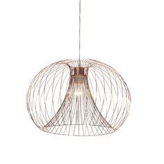 Saxby 48273 Jonas 1 Light Copper Wire Ceiling Pendant