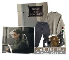 """BUT DARKNESS NEVER LEAVES THE SKY"" by good-and-evil ❤ liked on Polyvore featuring Levi's and Dr. Martens"