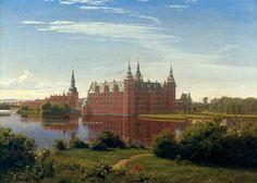 Peter Christian Skovgaard (1817-1875) — Frederiksborg Castle, 1841:Museum of National History at Frederiksborg Castle.  Denmark   (2362×1688)