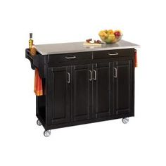 $398 Home Styles Create-a-Cart in Black with Stainless Top-9200-1042 at The Home Depot