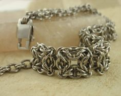 Stainless Steel Chainmaille Bracelet Kit - Intermediate - Celtic Labyrinth